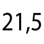 21,5 cm